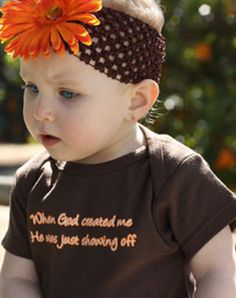When God Created Me He Was Just Showing Off Onesie - Great Christian Onesie for $17.95