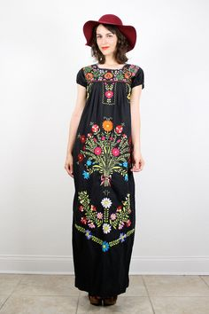 Vintage S Mexican Dress Hippie Boho Rainbow by ShopTwitchVintage, $106.00