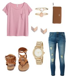 """""""Untitled"""" by emilycalcutt on Polyvore featuring H&M, MICHAEL Michael Kors, Breckelle's, Accessorize, FOSSIL, DKNY and Coach"""