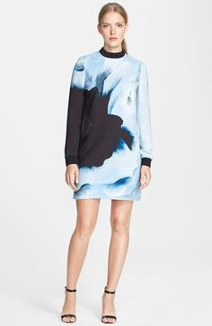 Victoria, Victoria Beckham Print Crepe Dress available at #Nordstrom
