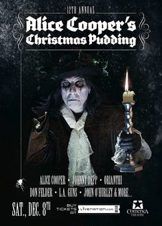 Alice Cooper's Christmas Pudding with Johnny Depp, 12/8/12 ...
