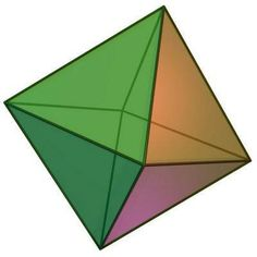 THE OCTAHEDRON: 8 SIDES - ASSOCIATED WITH HEART CHAKRA The octahedron form represents the merging of the physical, mental, and spiritual planes, thus symbolizing a state of completion. The Octahedron