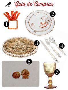 guia de compras, fundo do mar, inspiração coral, mesa posta, como colocar a mesa, jogo de jantar, taças, talheres, louça, porta guardanapo