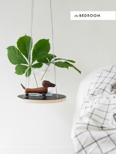 absolute must-do: hanging wood table diy. If hang from ceiling, draws eyes upward: makes space look bigger.