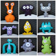 Adopt a monster!  DIY Monster Plushies
