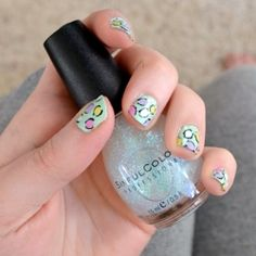 How To Paint Your Nails With A Pastel Leopard Print #craftgawker
