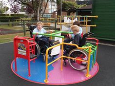 playground equipment for special needs kids | Outdoor play equipment should be accessible to all children. A level ...