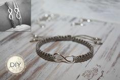 DIY Armband mit Unendlichkeitssymbol  Gibt es hier zu kaufen: http://www.salome-schmuck.de/undendlichkeitsarmband-silber-31038