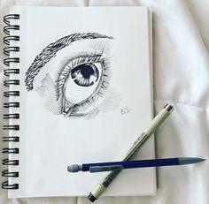 Eye drawing. Micron 005 pen drawing.