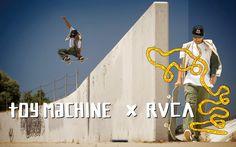 Nouvelle collection RVCA en collaboration avec la marque de skateboards Toy Machine ! Ce co-branding est constitué de vêtements fabriqués par RVCA : tee-shirts, vestes, sweats à capuche, t-shirts manches longues et casquettes à découvrir sur le webshop en cliquant sur le lien ci-dessous : Acheter en ligne RVCA X TOY MACHINE ►