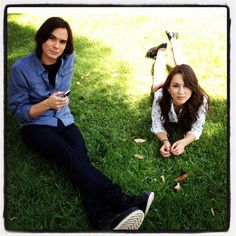 Tyler Blackburn and Troian Bellisario on the set of Pretty Little Liars. #PLL