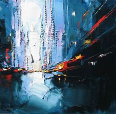 Daniel Castan's unique paintings of the city