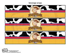Woody Toy Story Bottle Wrappers Digital File by MetroEvents Toy Story Birthday, Toy Story Party, Disney Toys, Graphic Design Services, Printable Cards, Sticker Paper, Gender Neutral, Paper Dolls, Party Invitations