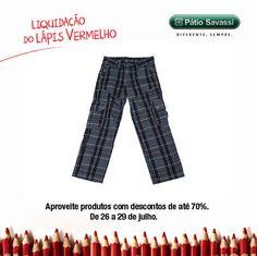 Calça Veban,de 262,00 por R$131,00 na Brooksfiels Jr. do @meupatiosavassi. #LLV