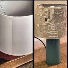 Old encyclopedia + plain lampshades + mod podge= amazing new lamps Think this is a fire hazard? Old Book Crafts, Book Page Crafts, Diy Projects With Books, Old Encyclopedias, Road Maps, Recycled Books, Future Classroom, Repurposing, Lampshades