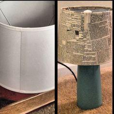 Old encyclopedia + plain lampshades + mod podge= amazing new lamps