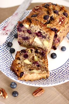Oatmeal breakfast cake with nuts and fruit