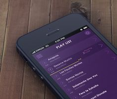 Play List #Flat #Ios Music Player by Yasser Achachi #iphone #UI #app
