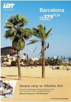 Z okazji 85. urodzin LOT przygotował dla swoich klientów niebywałą promocję! Tylko do 29 stycznia oferuje 4 x 85 tysięcy biletów w wyjątkowych cenach. Zarezerwuj już dziś lot na wymarzone wakacje i ciesz się latem w środku zimy. Barcelona, Beach, Water, Plants, Outdoor, Gripe Water, Outdoors, Seaside, Barcelona Spain