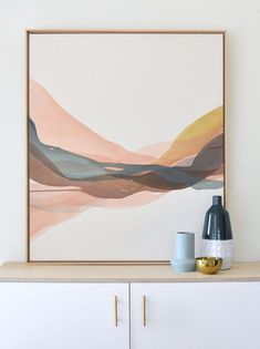 Aquarell – Watercolor – Watercolour – Wasserfarben IN SITU — Lauren Mycroft Art Abstract Painters, Abstract Wall Art, Painting Abstract, Acrylic Paintings, Modern Abstract Art, Painting Walls, Knife Painting, Modern Artwork, Painting Canvas
