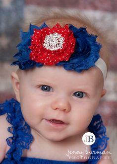Baby headband Fourth of July headband Patriotic by ThinkPinkBows, $8.95