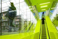 Fluorescent Yellow Neon Architecture Design