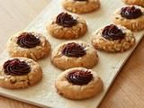 Chocolate-Almond Butter Thumbprint Cookies