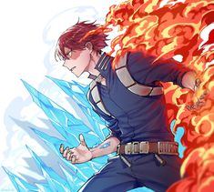 Suncelia (busy, sorry) ( My Hero Academia Shouto, My Hero Academia Episodes, Hero Academia Characters, Anime Demon, Manga Anime, Anime Art, Cute Anime Guys, Awesome Anime, Super Anime