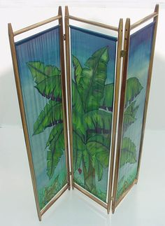 Hand painted silk room divider - anyone interested in it? We can paint anything from silk. Custom orders welcome.