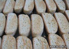 Печенье в виде сухариков