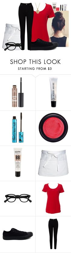 """""""VEM2"""" by cheyleexox ❤ liked on Polyvore featuring Essence, Bobbi Brown Cosmetics, Barry M, Real Purity, NYX, Chef Works, See Concept, Simplex Apparel, Converse and EAST"""