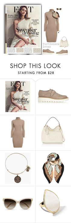 """""""Stunning in a Turtleneck Dress!!"""" by prettynposh2 ❤ liked on Polyvore featuring Proenza Schouler, STELLA McCARTNEY, Rumour London, Gucci, Alex and Ani, A Peace Treaty, Ippolita, jessicaalba and turtleneck"""