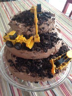 Bulldozer Construction Birthday Cake