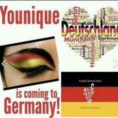 Younique kommt dach Deutschland July 2015!!  Younique is coming to Germany!  www.fibermascaramama.com