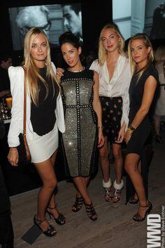 Virginie, Prisca in Lanvin F07, Claire in Altuzarra F11 shoes, and Jenna Clarins-Courtin