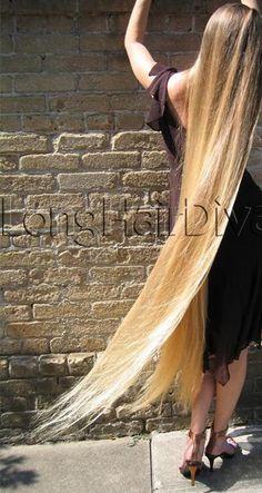 blond, straight