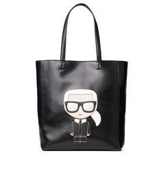 Karl Lagerfeld Damen K/Ikonik Soft Shopper Schwarz Karl Lagerfeld, Trends, Clutch, Travel Style, Leather Backpack, Designer, Backpacks, Shoulder Bag, Tote Bag