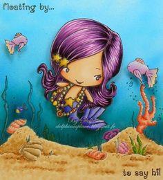 Magical Bean - Mermaid.  Sandy Seafloor by Make It Crafty