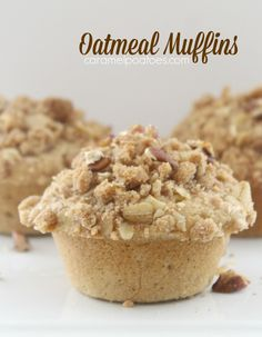 Oatmeal Muffins -full of whole-grain flavor but moist and tender.  Make a batch for on-the-go breakfast or a delicious afternoon snack!