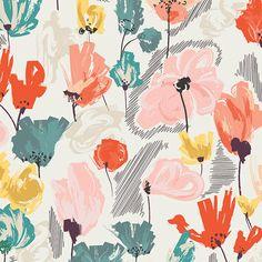 NEW - Art Gallery Fabric - Rapture Collection - Wild Beauty Saffron - Patricia Bravo Art And Illustration, Pattern Illustration, Floral Illustrations, Art Gallery Fabrics, Surface Pattern Design, Pattern Art, Abstract Pattern, Motif Floral, Floral Prints
