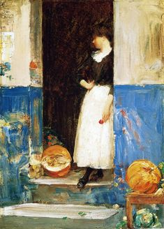 A Fruit Store, 1888, Childe Hassam