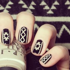 Sweater Nail Design for Short Nails