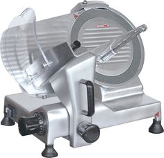 Aufschnittmaschine, MW-275 massives Metallgehäuse, leistungsstarker Motor, beweglicher Restehalter, inkl. Schleifgerät, professionelles Messer DM 27,5 cm, Schnittstärke: 0,2 - 15 mm Anschlussw.: 230 V / 250 W Abm.: 45,5 x 54 x 44,5 cm (BxTxH) Dm, Motor, Cold Cuts, Knives, Hang In There
