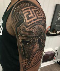Bro Tattoos, Warrior Tattoos, Neue Tattoos, Badass Tattoos, Viking Tattoos, Body Art Tattoos, Sleeve Tattoos, Tattoos For Guys, Gladiator Tattoo