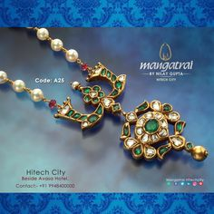 Code: For More Details Call Us on Store Address: Mangatrai @ Hitech City , Beside Avasa Hotel , Hyderabad Gold Jewellery Design, Bead Jewellery, Pearl Necklace Designs, Gold Jewelry Simple, Wedding Anniversary, Jewels, Finance, Wedding Anniversary Years, Jewelery