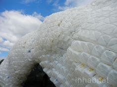 """Giant """"Cloud"""" Made of Recycled Plastic Bottles Pops Up on Gove..."""