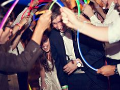 Glow sticks are quickly becoming our favorite exit item. Photo by David Bley Storytellers #alabamaweddings #thesonnethouse #southernweddings