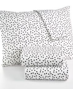 Whim by Martha Stewart Collection Novelty Print Cotton Percale Percale Twin Sheet Set, Only at Macy's