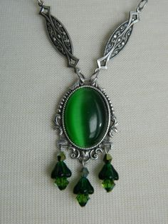 ABSINTHE  Necklace by Crow Haven Road by CrowHavenRoad on Etsy, $40.00