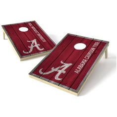 Alabama Crimson Tide 2' x 3' Big Shield Vintage Tailgate Toss Set - $199.99